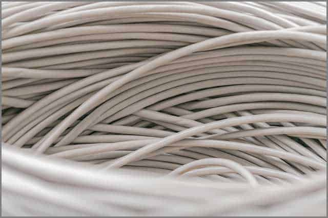 An image of a bunch of grey unshielded twisted pair cables