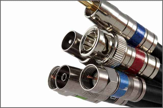 An image of coaxial cables