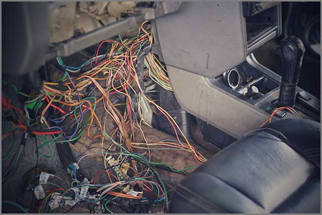 Advanced engine wiring harness and many wires