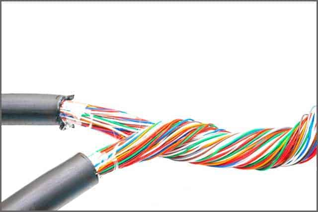 Two colored multicore cable