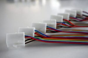 custom wiring harness with plastic connectors