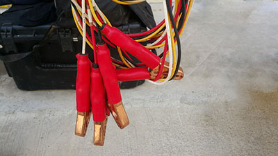 Power supply wire jumper cable for car battery