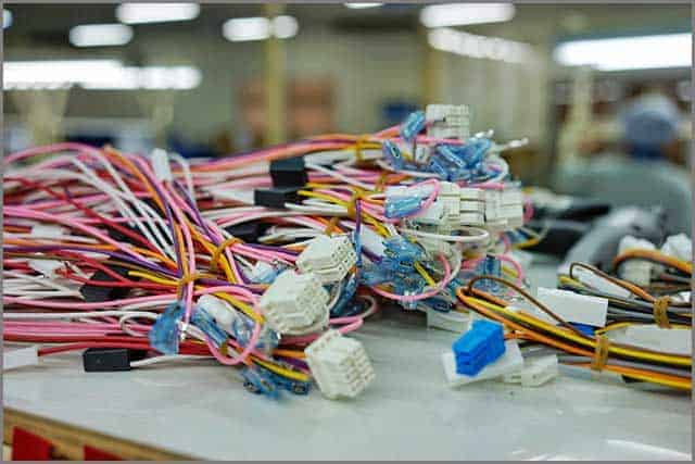 A wire harness connect electronically