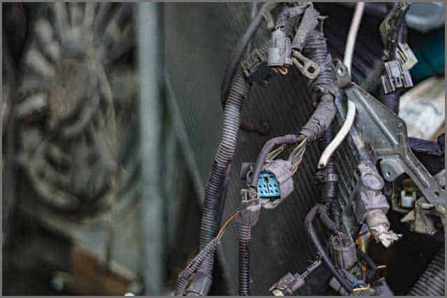 Various forms of stress or tension can result in breakage of wires throughout the wiring harness.