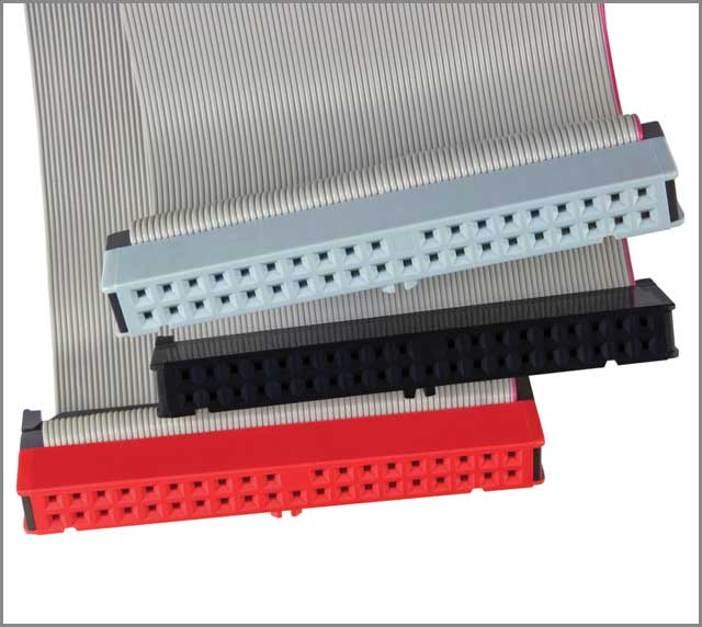 Connectors ribbon cable parallel