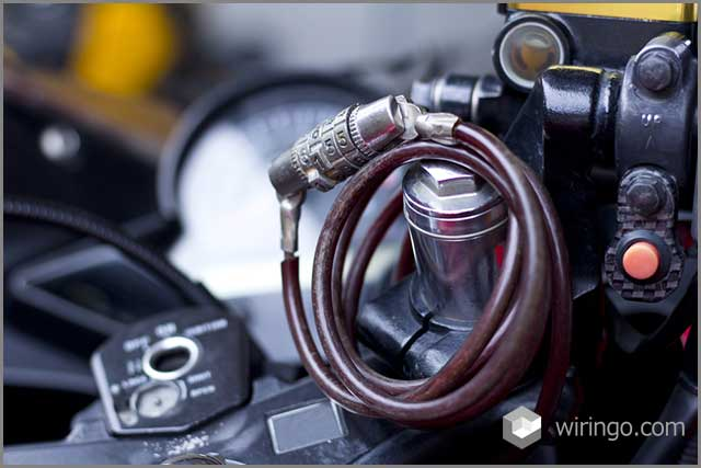 Motorcycle lock cable