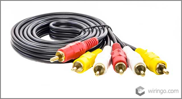 Audio video cable RCA to 3.5mm jack