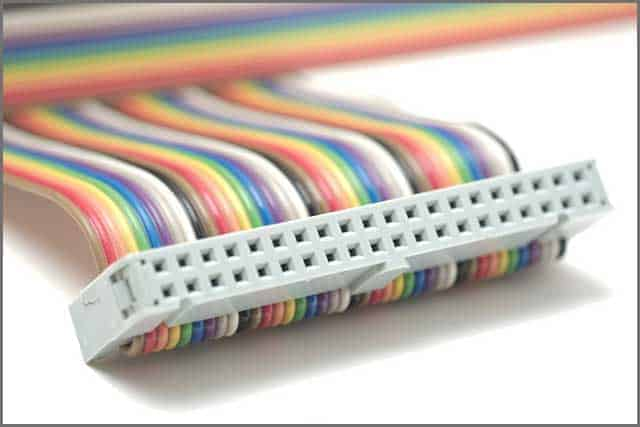 Macro Ribbon cable with color coding