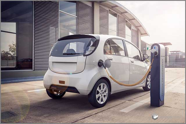 3D rendering of Electric car or vehicle