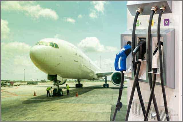 electric aircraft charger station with plug and power cable supply