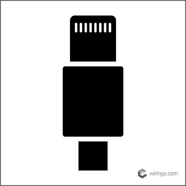 Lightning connector cable flat vector icon
