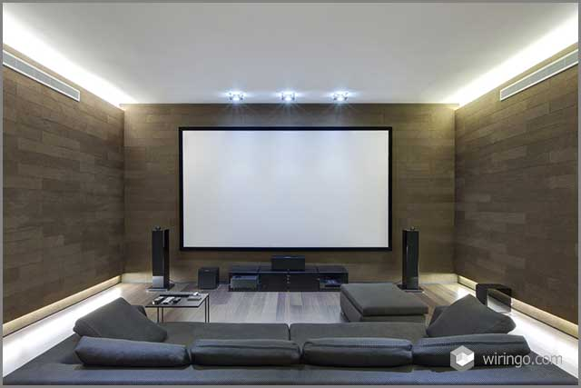 Home theatre with RCA cables