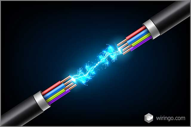 Creative vector illustration of electric glowing lightning