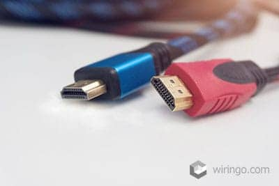 Blue and red custom HDMI cables