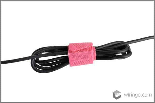 Velcro straps for cable management