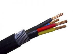 Electrical power-armoured cable