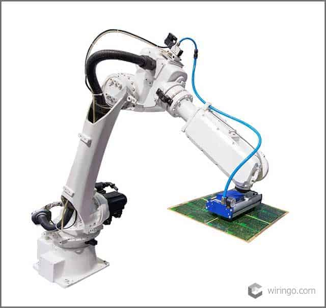 Robot arm for industry isolated included clipping path