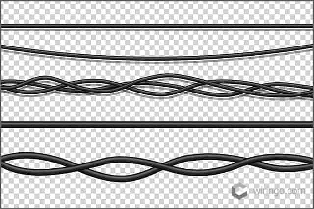 Realistic isolated electrical wires