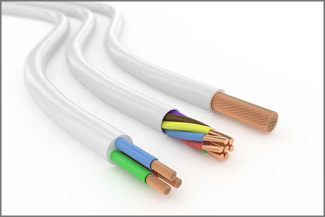 Electrical cables with different numbers of conductors