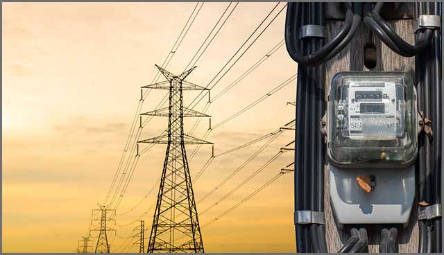 Electric meters with high power transmission