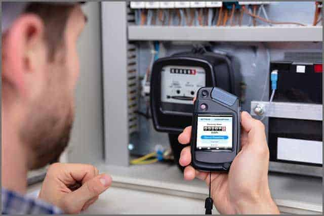 Electricity meter reading check