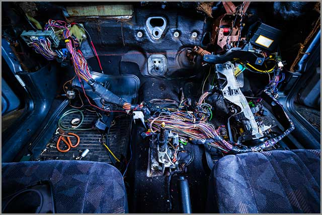 Automobile Wire Harness--Car repair Showing the Wiring System