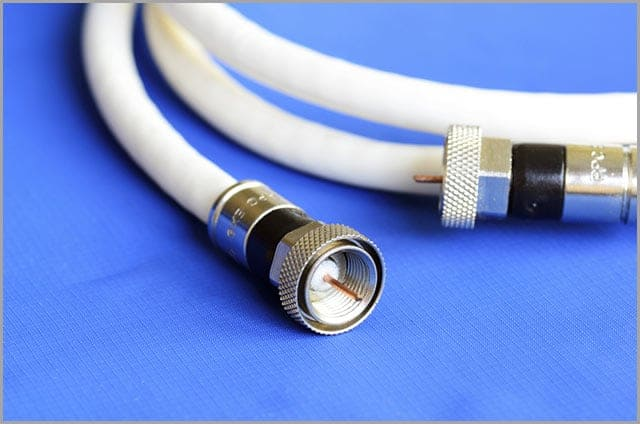 White Coaxial Cable