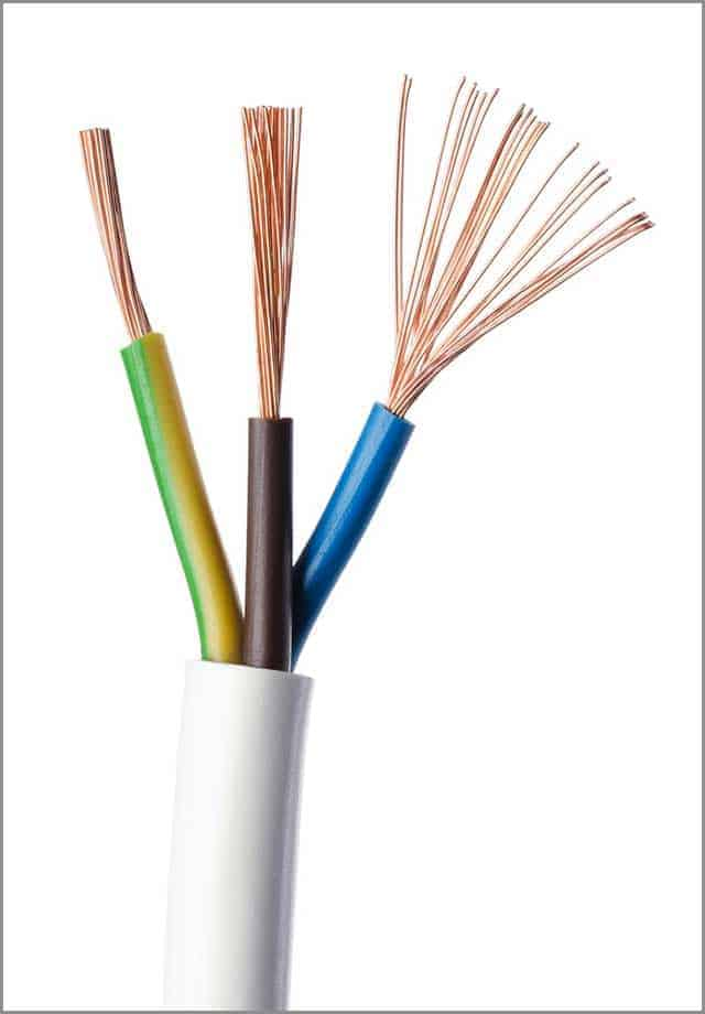 IEC Standard Electrical Cable Showing Stranded Wires