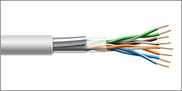 Twisted Pair Cable with Shielded Structure