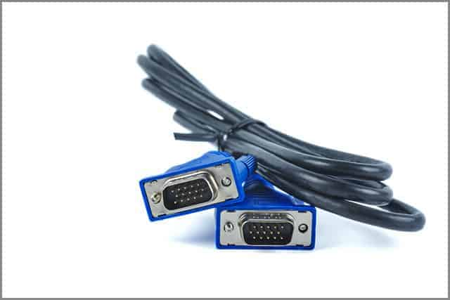 A Typical Picture of A DB-15 connector with Blue Colored Insulation