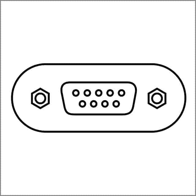 Two-dimensional Diagram of A DB-9 Connector