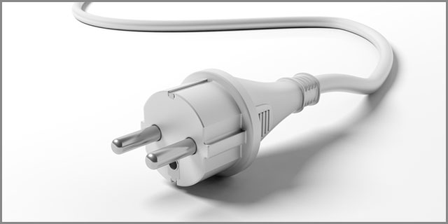 An Electric Power Plug with Two External Terminals