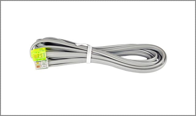 Grey colored telephone wire connector