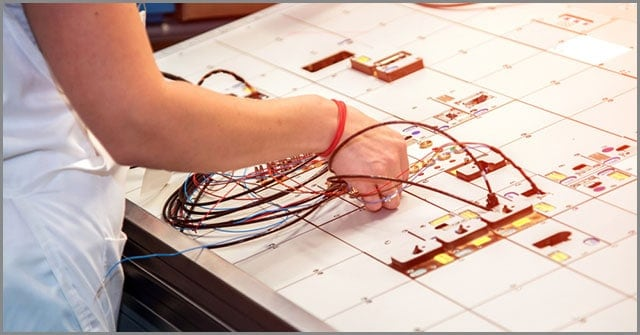 Woman Performing Quality Check on the Various Parts of A Wire Harness