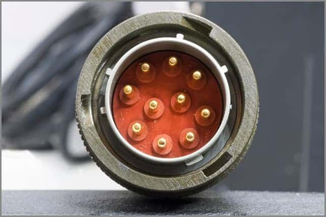 A Male Connector with Exposed Pins