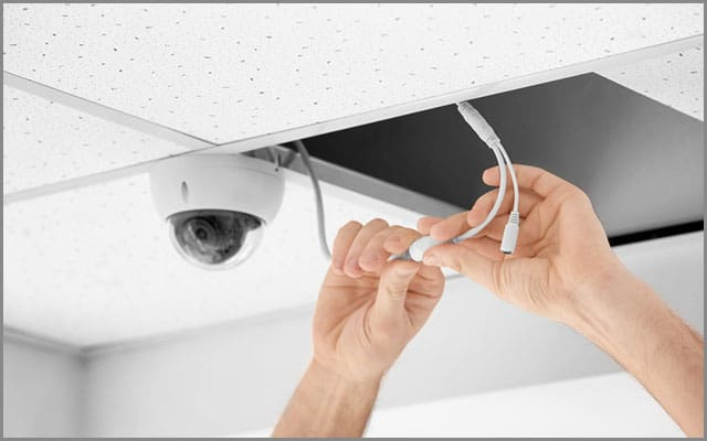 Seeing Cables During CCTV Installation