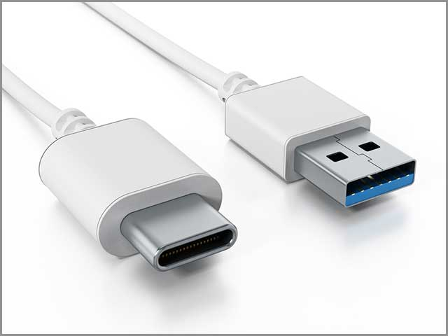 USB type C and USB 3.0 format cables