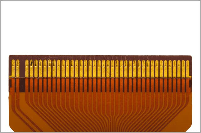 Flat Ribbon Cable showing Contacts