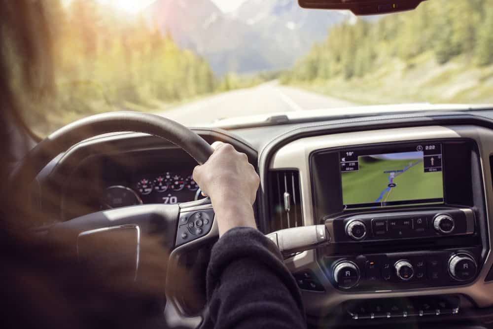 Aftermarket car stereo with integrated GPS