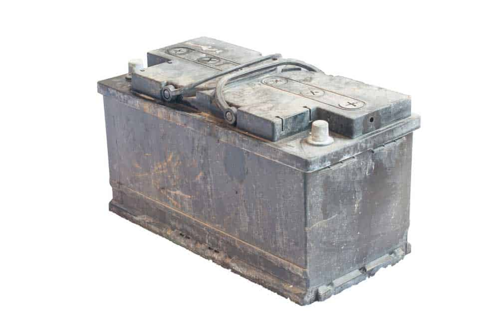 Sulfated forklift battery