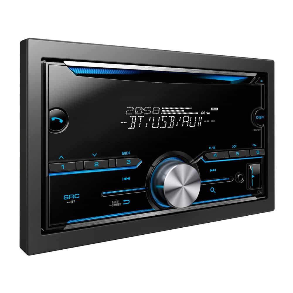 Car stereo with DVD screen.