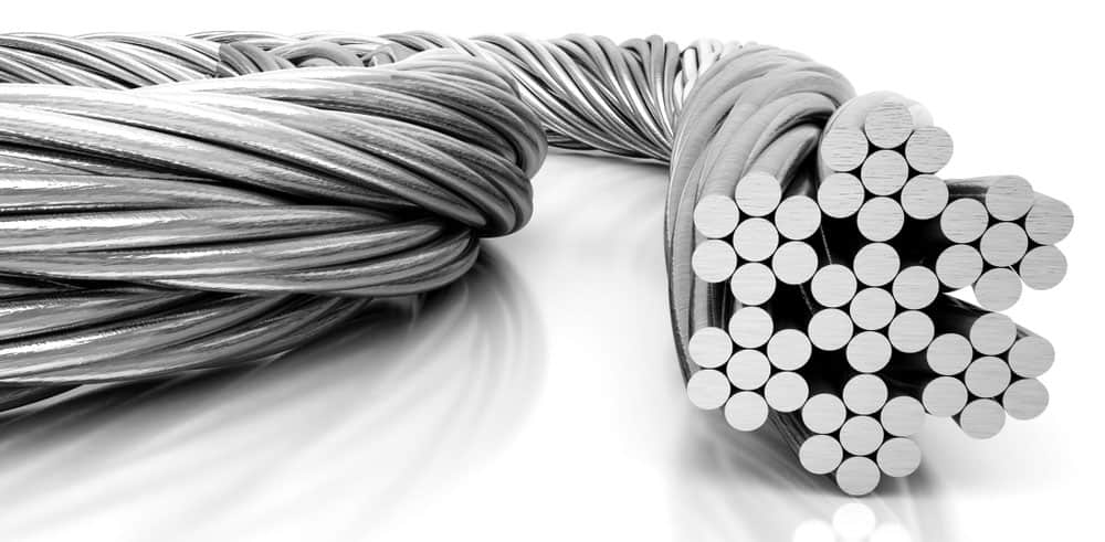 Steel wire cable – 3D illustration