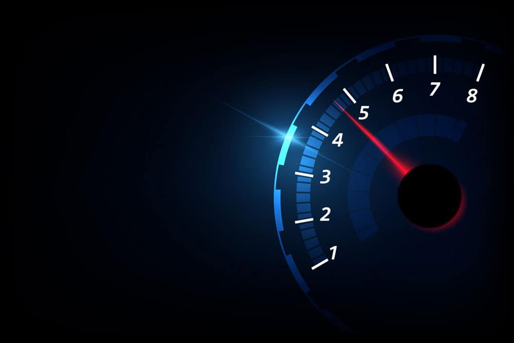 A vector illustration of a tachometer