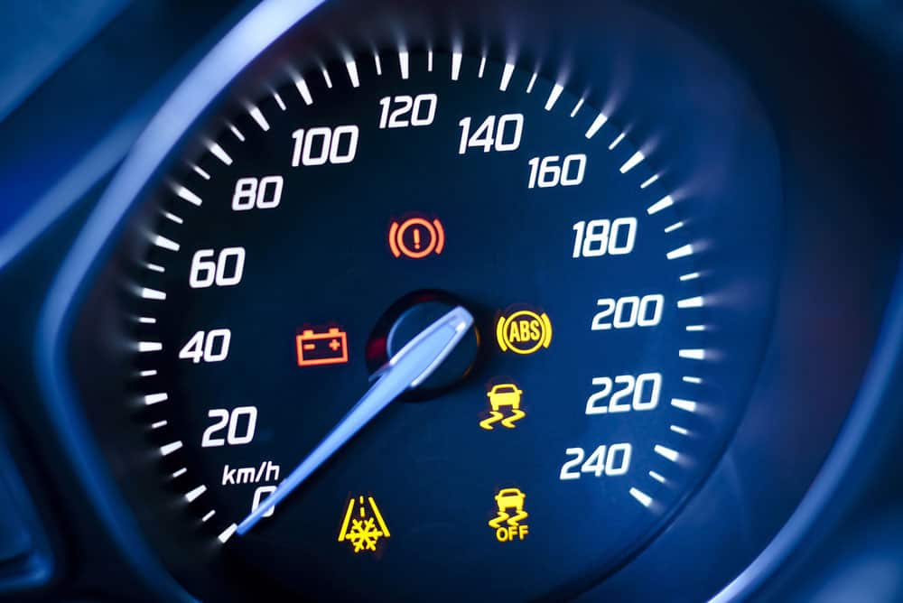 An example of the check engine light