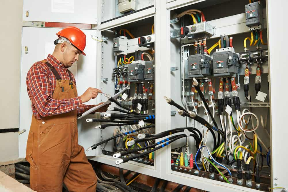 An electrical engineer worker