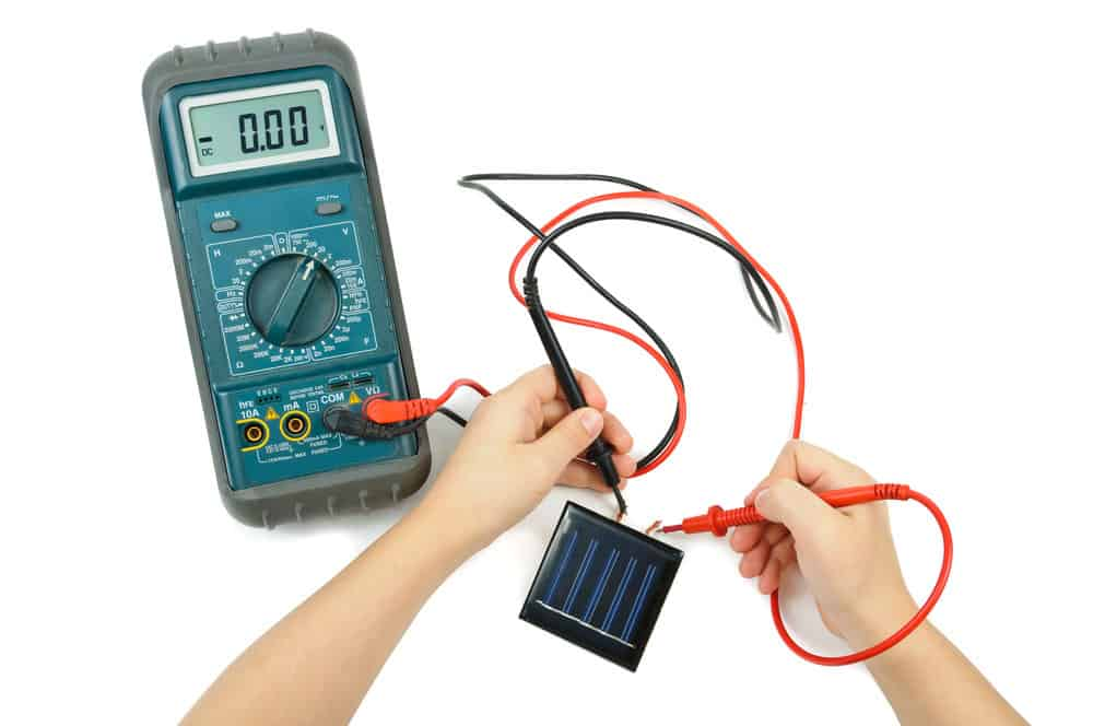 An electrical tester and a solar battery