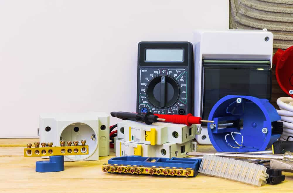 Various electrical equipment shown in the photo